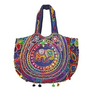Cotton Embroidered Women Shoulder Bag. Indian Embroidered, this is a banjara embroidered colorful stylish fashion bag